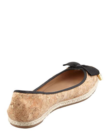 valarie cork ballerina flat, black
