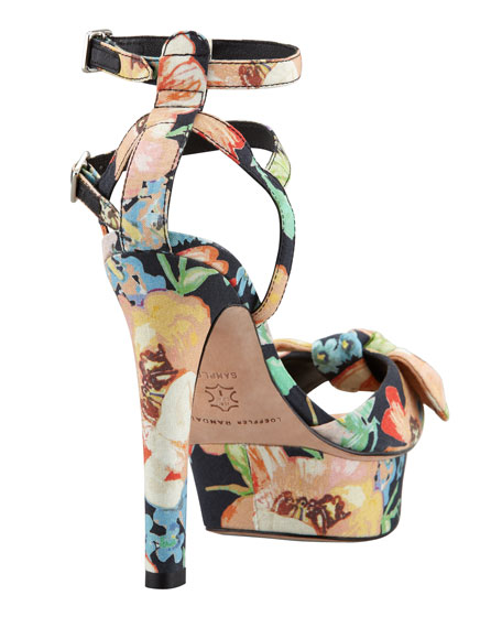 Dahlia Floral Bow Sandal