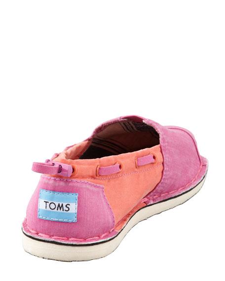 Colorblock Boat Shoe, Pink/Orange