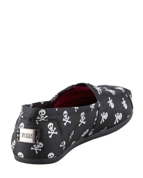 Sparkle Skulls Slip-On, Black