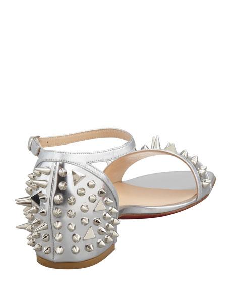 Druide Metallic Spiked Flat Sandal