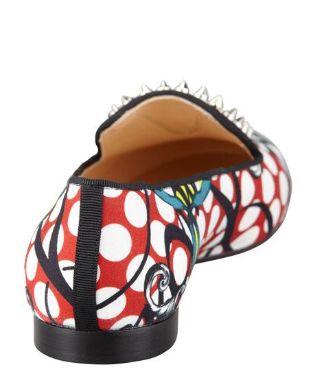 Sakouette Face Polka-Dot Fabric Loafer