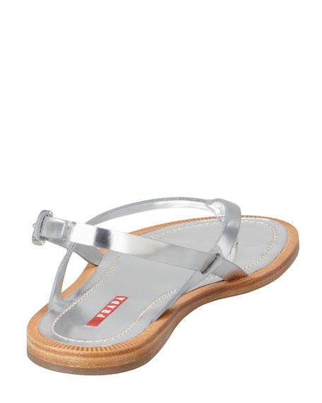 Metallic Thong Slingback Sandal