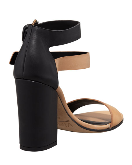 Lana Colorblock Double-Buckle Sandal