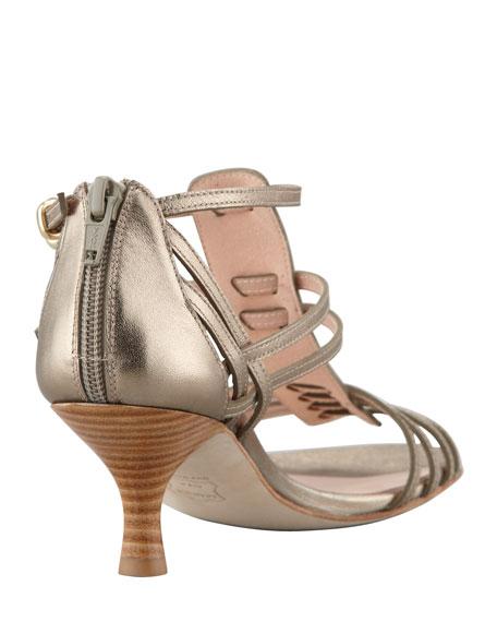 Huarache Mid-Heel Gladiator Sandal