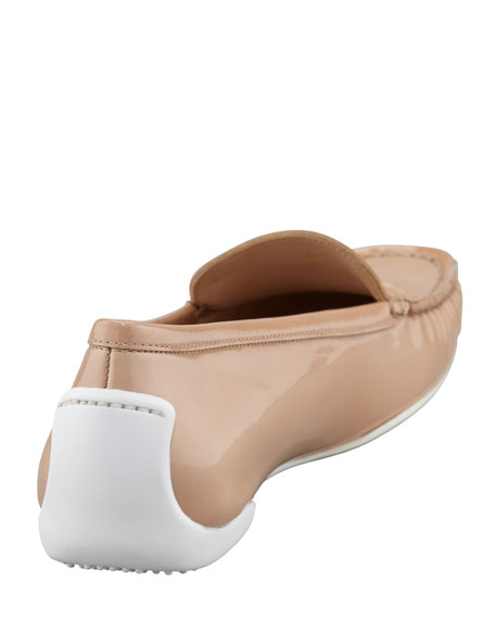 Mach 1 Patent Leather Driver Moccasin, Adobe