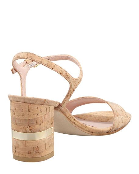 Solo Cork Heel Sandal
