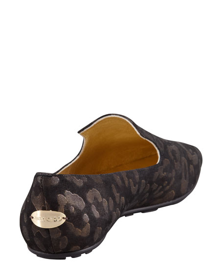 Wheel Leopard Loafer, Black