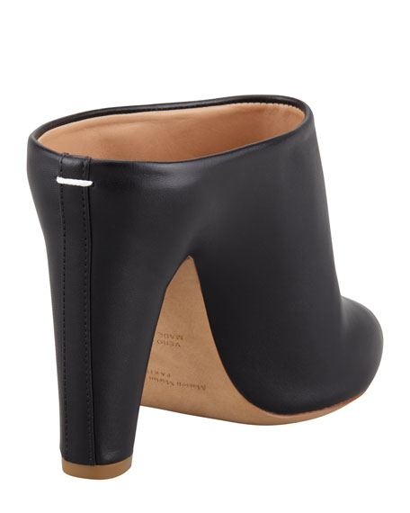 Leather Slide Bootie