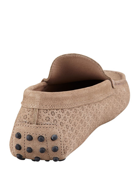 Gommini Perforated Suede Moccasin
