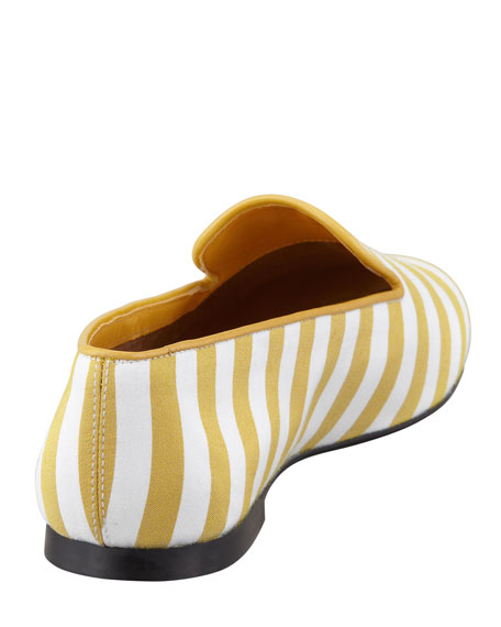 Striped Slipper, Yellow/White