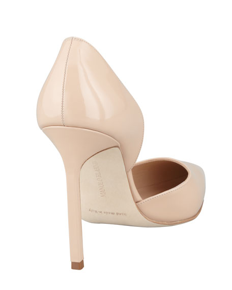 Tayler Patent Pointed d'Orsay, Nude