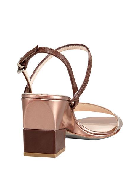Metallic Demi-Heel Sandal