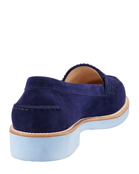 Ivy Penny Keeper Moccasin, Navy