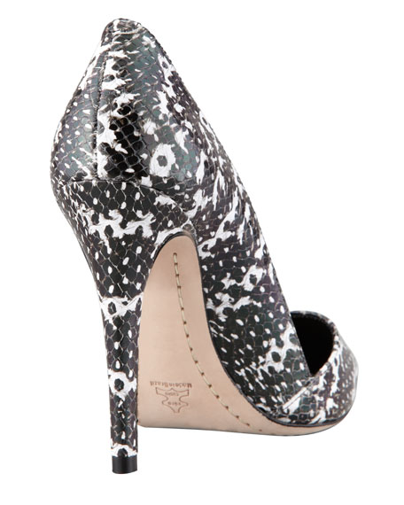 Dina Snake-Print Pointed Pump