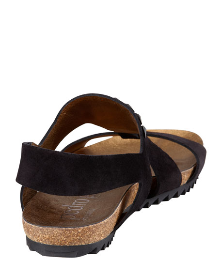 Verity Crystal-Embellished Suede Sandal