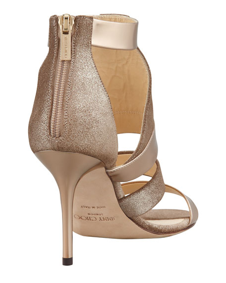 Berlin Metallic Sandal, Light Bronze