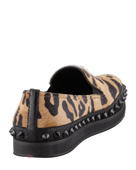 Leopard Stud Platform Slip-On