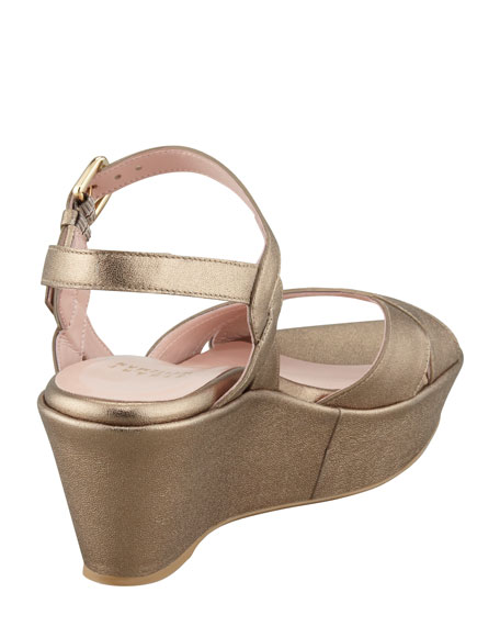 Lockness Metallic Flatform Wedge