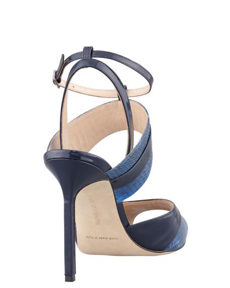 Sibile Strappy Snakeskin Sandal