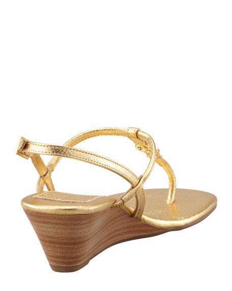 Emmy Demi Wedge Thong Sandal, Gold
