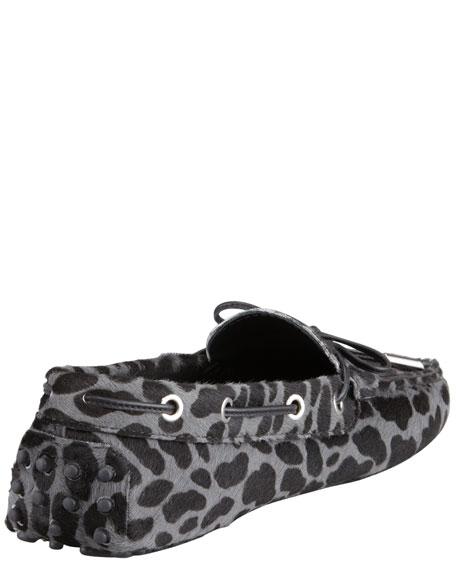 Ochelli Calf Hair Driver, Leopard