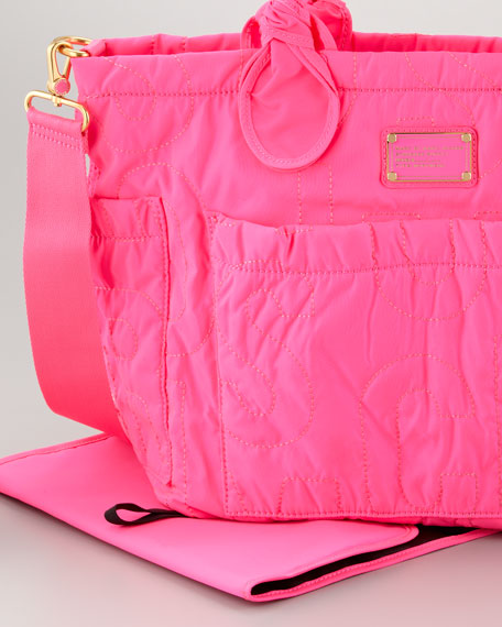 Eliz-A-Baby Pretty Nylon Diaper Bag, Pink