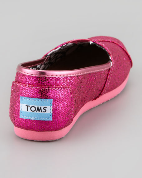 Youth Glitter Slip-On, Hot Pink