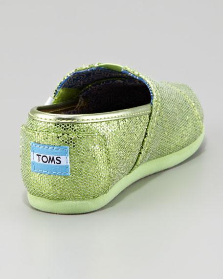 Mint Green Glitter Shoe, Tiny