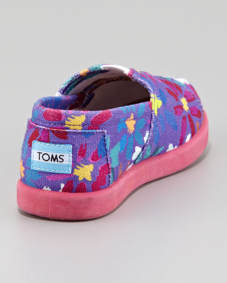Daisy Print Canvas Slip-On, Tiny