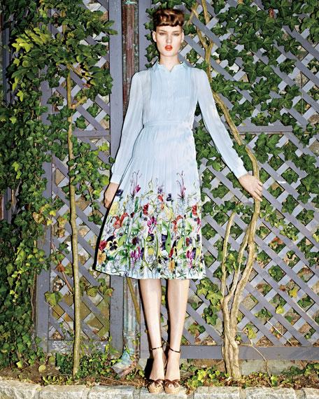 Flora Infinity Printed Silk Georgette Dress