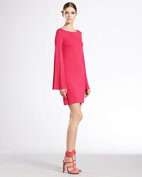 Long-Sleeve Boat-Neck Dress