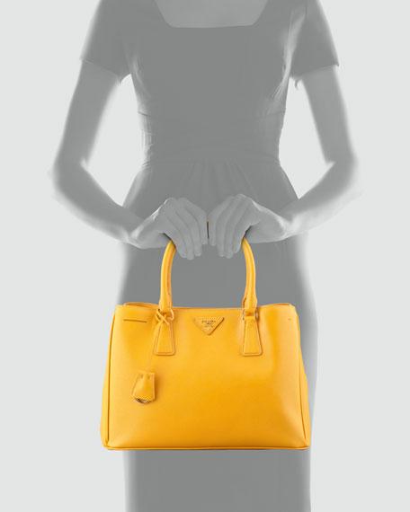 Saffiano Lady Tote Bag, Bright Yellow