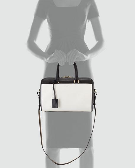 Bicolor Duffel 6 Bag, Black/White