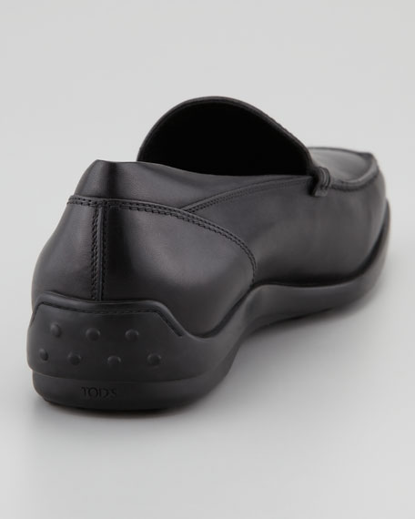 Venetian Driver-Sole Loafer, Black