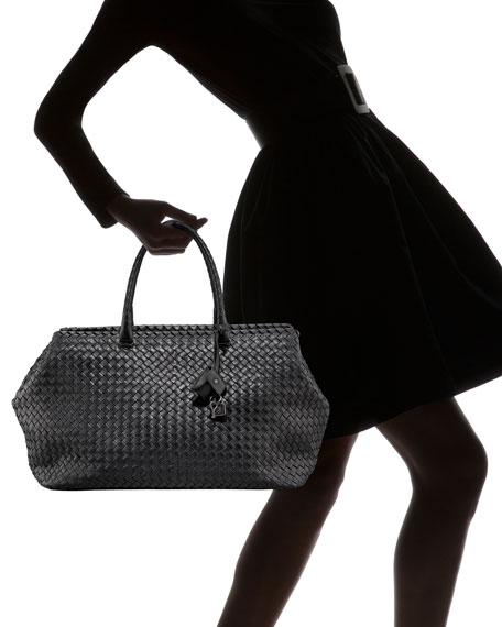 Brick Woven Top-Handle Bag