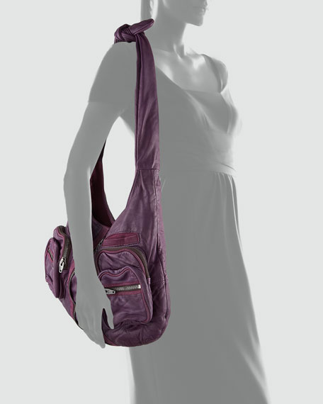 Donna Washed Leather Hobo Bag
