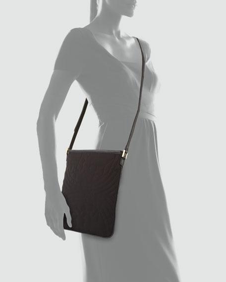 Stitched Nylon Swingpack Crossbody Bag