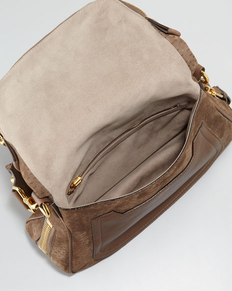 Small Peccary Jennifer Messenger Bag