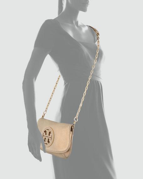 Glitter Logo Clutch Bag, Chocolate