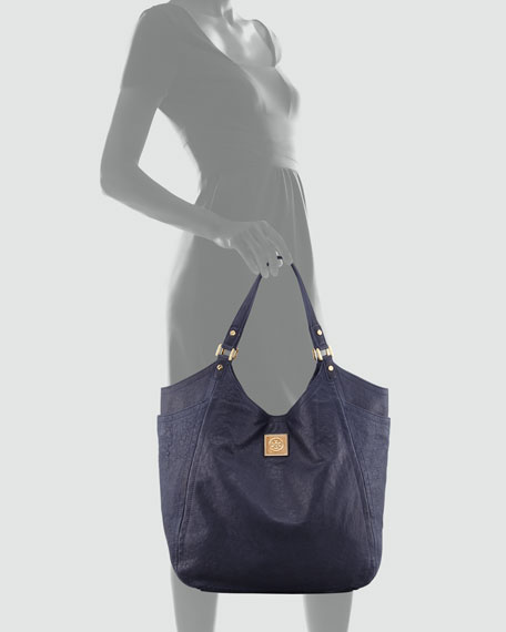 Louisa Slouchy Tote Bag, Tory Navy