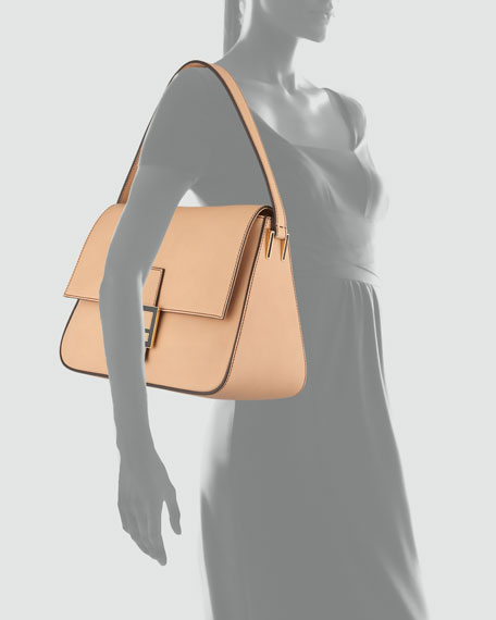 546344ace720 Fendi Big Mama Zucca-Flap Large Shoulder Bag