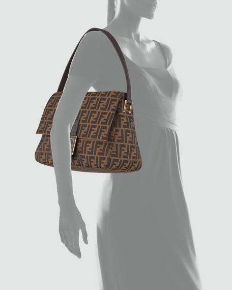 Big Mama Zucca-Flap Large Canvas Shoulder Bag