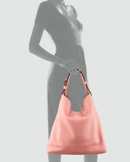 Deerskin Hobo Bag, Coral