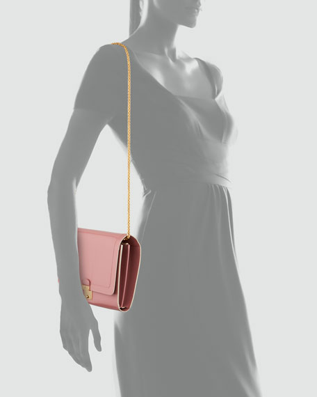 1984 Patent Leather All in One Clutch Bag, Rose