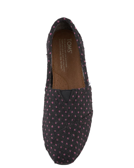 Polka-Dot Slip-On, Black