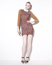 Carven printed dress, 212 872 2887