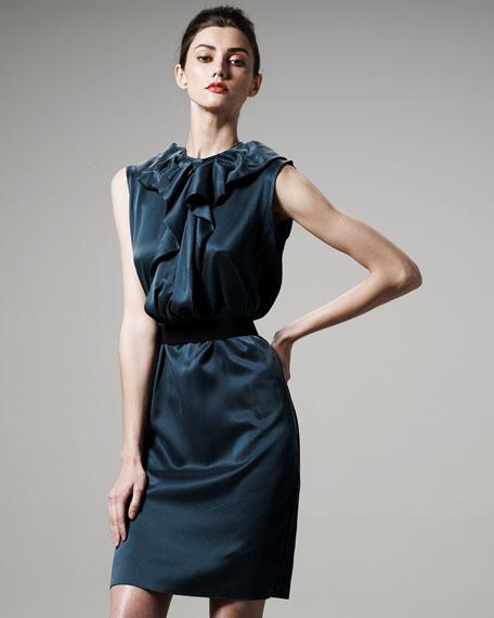 Satin Ruffle Dress