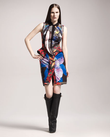 Patchwork-Print Cotton Dress