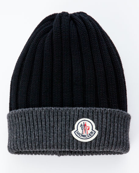 Bi-Color Ribbed Beanie